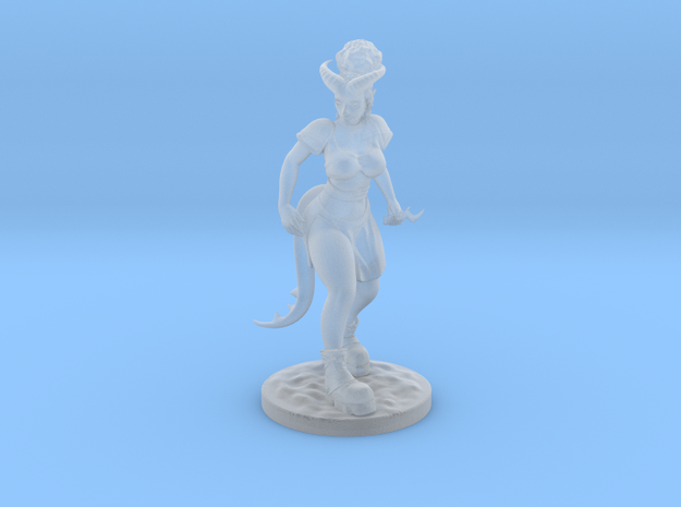 Dnd Tiefling Miniature in Frosted Ultra Detail