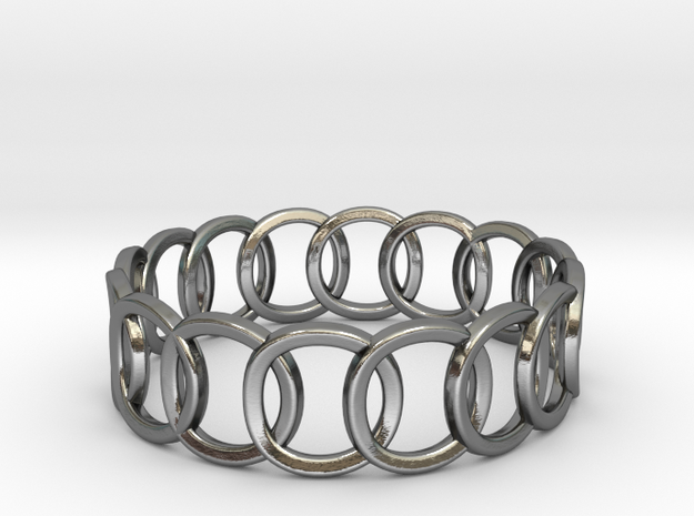 Interloop Band (Olympic Ring) in Polished Silver