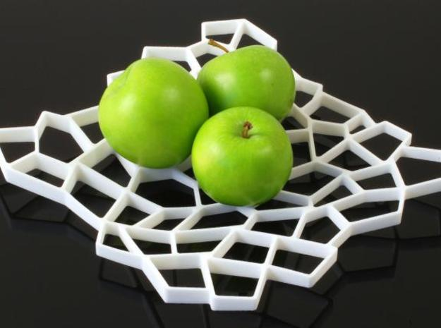 Square Platter in White Natural Versatile Plastic