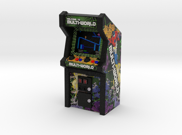 Multi-World Arcade Game, 35mm Scale in Full Color Sandstone