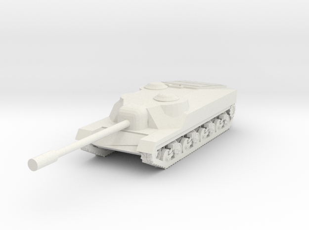T28 heavy tank destroyer in White Natural Versatile Plastic