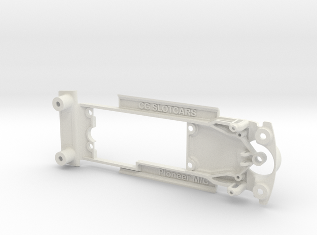 Pioneer '68 Mustang & Camaro Chassis for Slot.it in White Natural Versatile Plastic