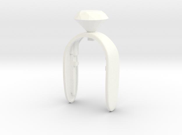 I DO key fob in White Processed Versatile Plastic
