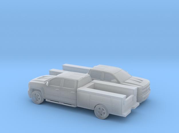 1/160 2X  2016 Chevrolet Silverado Crew Cab Utilit in Smooth Fine Detail Plastic