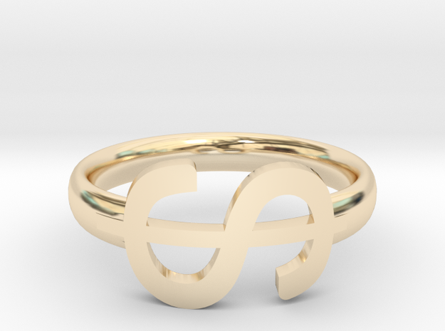 Ring of USD in 14K Yellow Gold: 6 / 51.5