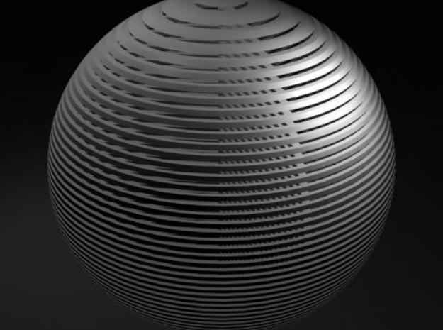 Striped Sphere 3d printed Much prettier rendering of this in Maya.