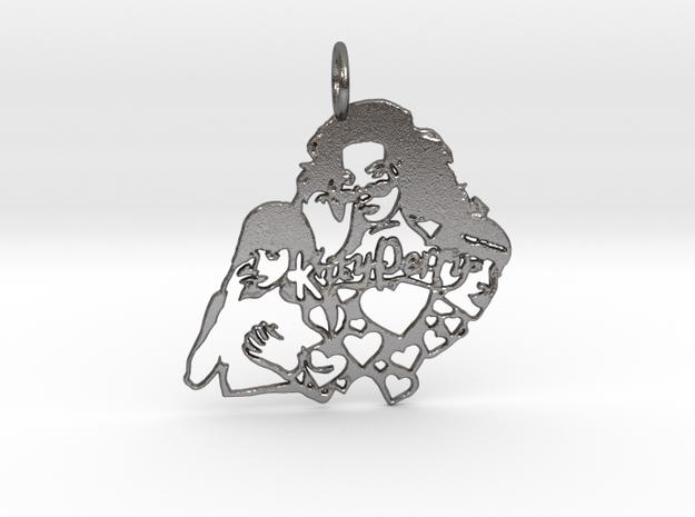 Katy Perry Fan Pendant in Polished Nickel Steel: Large