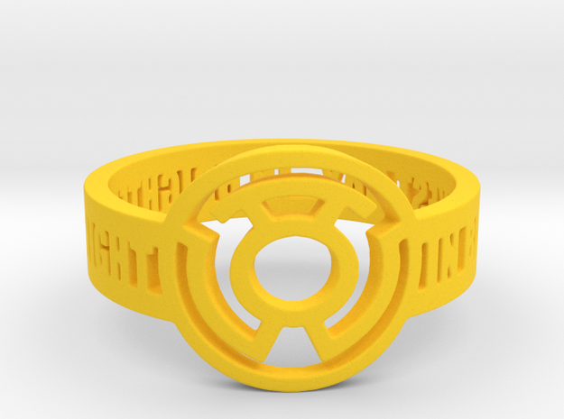 Yellow Lantern Oath Ring in Yellow Strong & Flexible Polished: 12.25 / 67.125