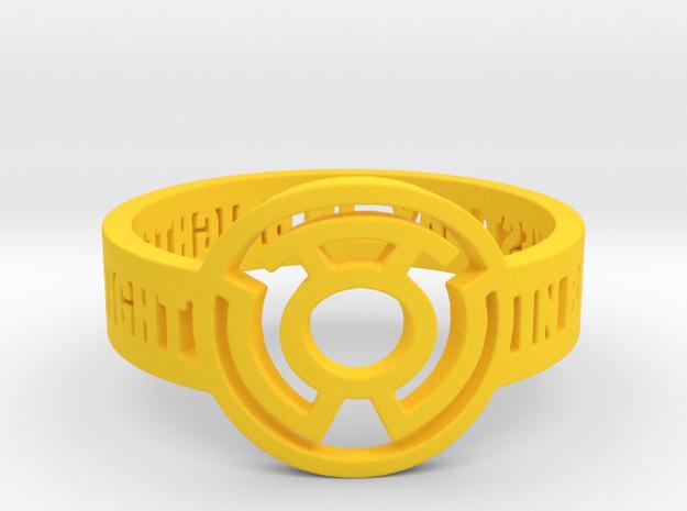 Yellow Lantern Oath Ring in Yellow Processed Versatile Plastic: 12.25 / 67.125