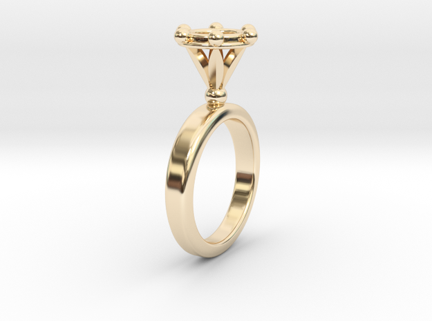 Ring Byzantinium in 14k Gold Plated Brass: 5.5 / 50.25