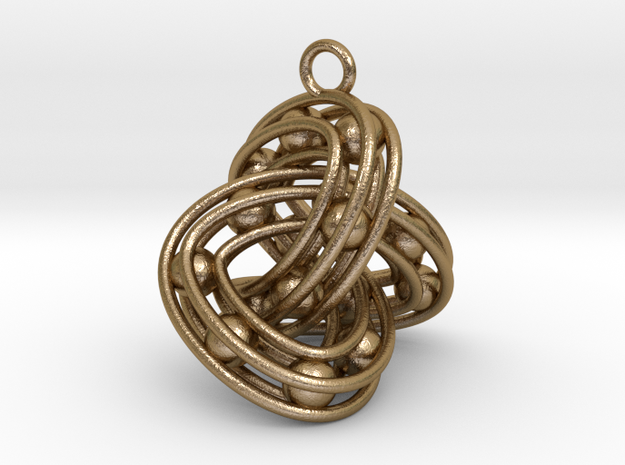 Trefoil-Parametrisch-Penta in Polished Gold Steel