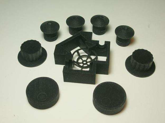 Button Assembly 3d printed All parts in this series