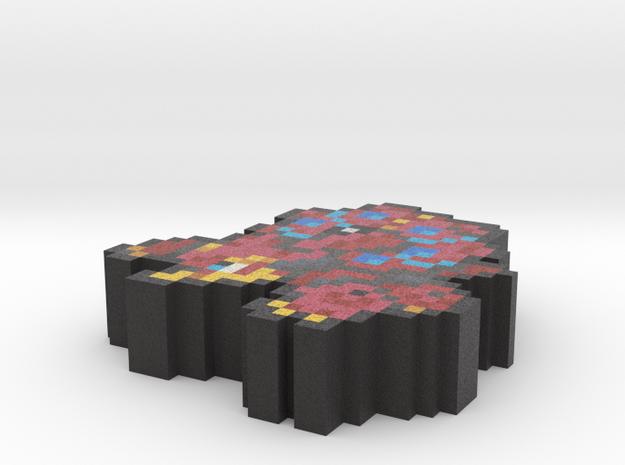 Pokemon Volcanion Pixel Art in Full Color Sandstone
