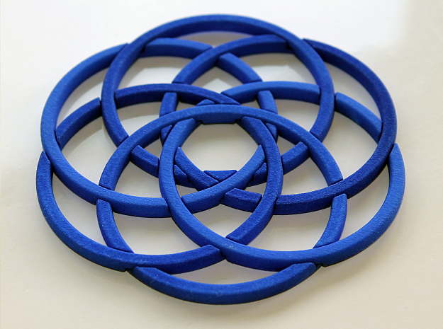 WASP Coaster in Blue Strong & Flexible Polished