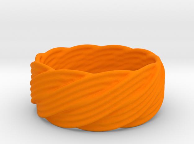 Bracelet ABC in Orange Processed Versatile Plastic