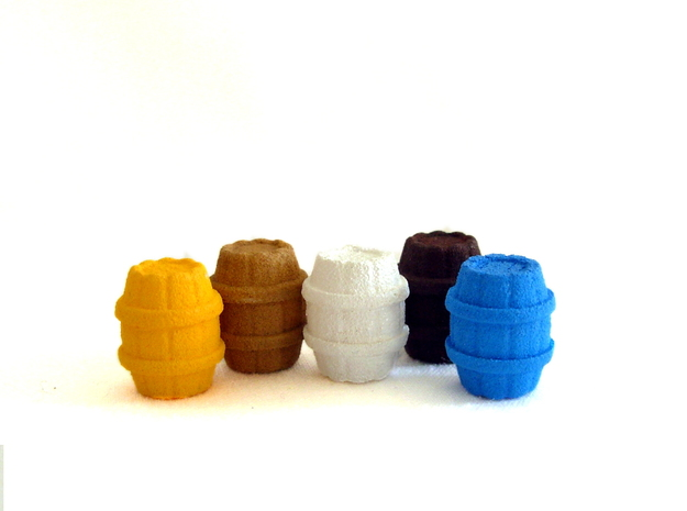 Wooden Barrels for Puerto Rico, Set of 52 3d printed Example of Painted barrels