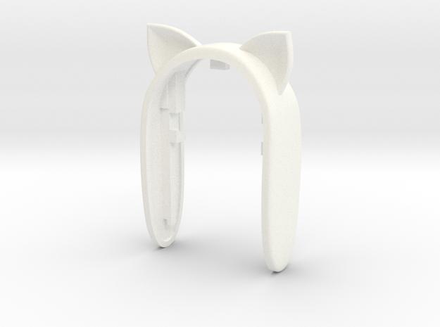 CAT LOVE KEY FOB in White Processed Versatile Plastic