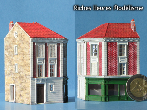 NGG-BVA02dg - Large Railway Station in Smooth Fine Detail Plastic