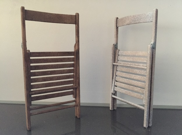 Folding Chair Wood.closed in White Strong & Flexible Polished