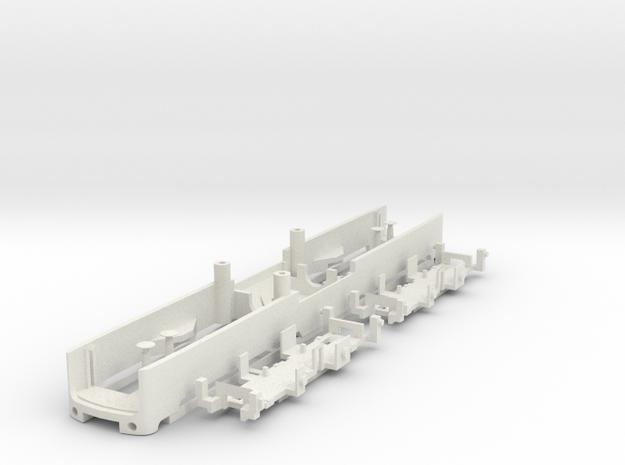 TT Gauge BR150 E50 Sprue 2 - Frame in White Natural Versatile Plastic