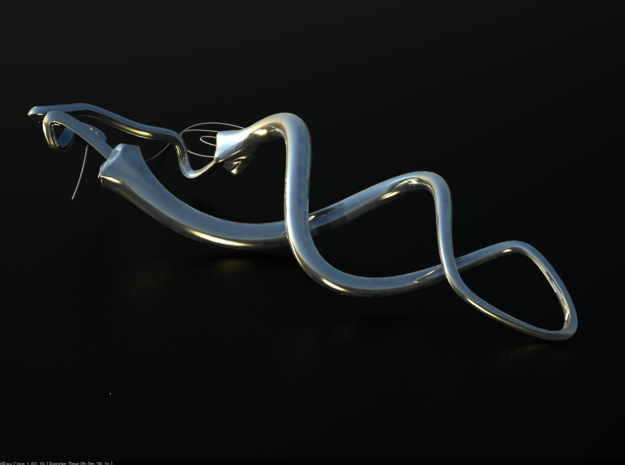 Chili pepper necklace 3d printed