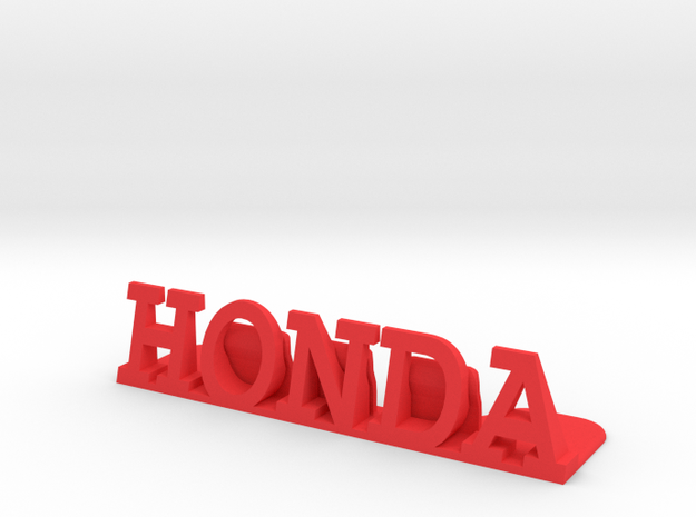 Honda Desktop Picture Holder in Red Processed Versatile Plastic