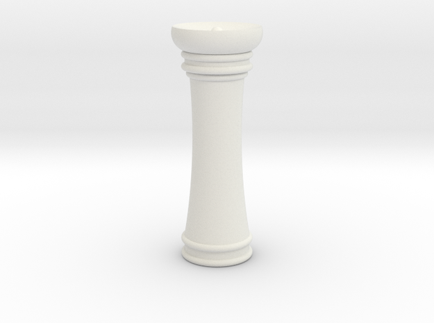 Courier chess Mann in White Strong & Flexible