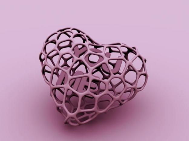 Voro-Heart (10$) 3d printed Description