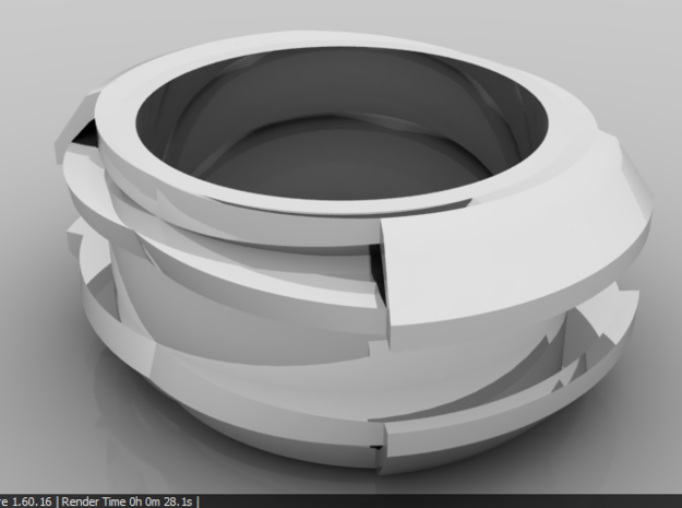 Thick Ring in Matte Black Steel