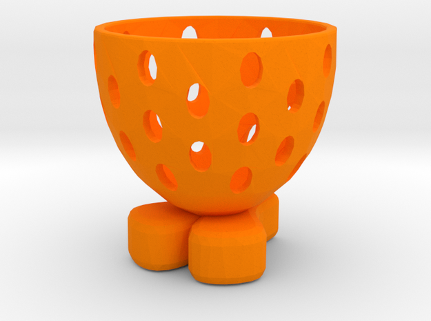 """Easter """"glass"""" on the egg in Orange Processed Versatile Plastic"""