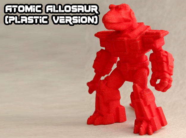 Atomic Allosaur in Red Strong & Flexible Polished