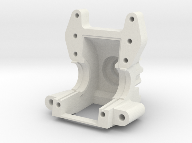AXIAL YETI / EXO Bulkhead V1 in White Natural Versatile Plastic