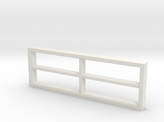 Window, 118in X 40in, 4 Panes in White Natural Versatile Plastic