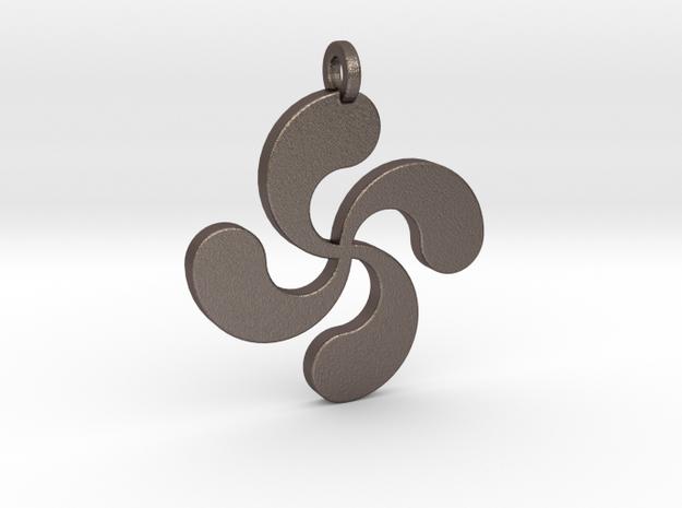 Lauburu pendant in Stainless Steel