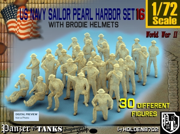 1-72 US Navy Pearl Harbor Set 16 in Frosted Ultra Detail
