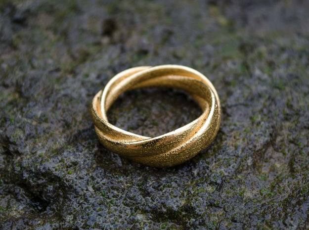Torusring I   ( 20mm) in Polished Gold Steel
