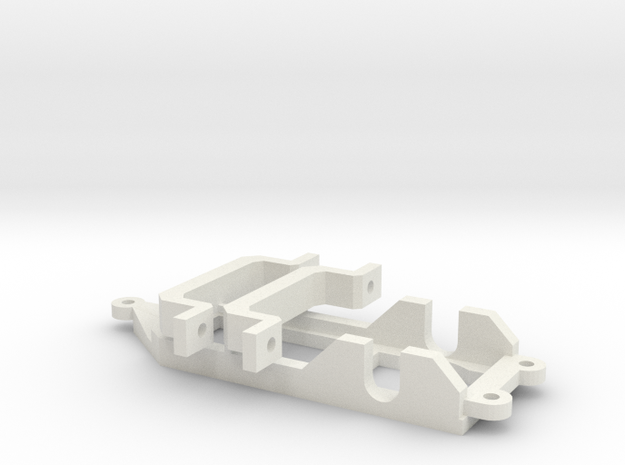 1/43 Motorpod + Motor mount in White Natural Versatile Plastic