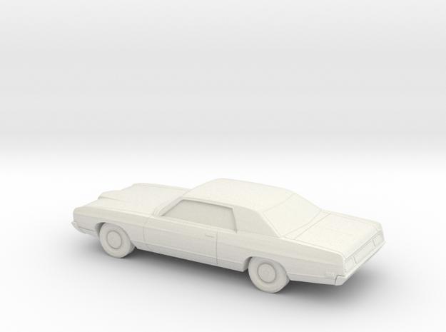 1/87 1971/72 Ford LTD Coupe in White Natural Versatile Plastic