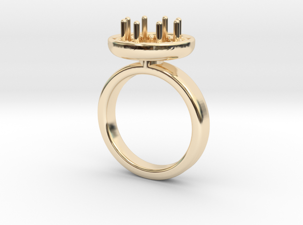 Ring Iris in 14k Gold Plated: 5.5 / 50.25