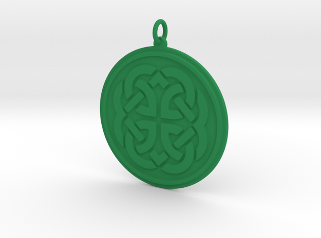 Feyfire Pendant in Green Strong & Flexible Polished