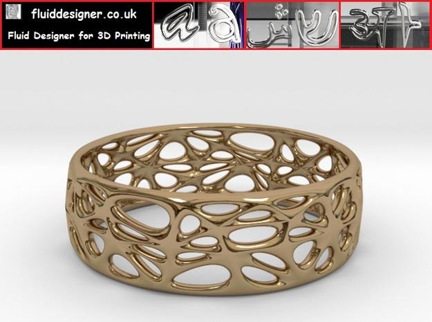 Organic Bracelet 65mm in Polished Brass