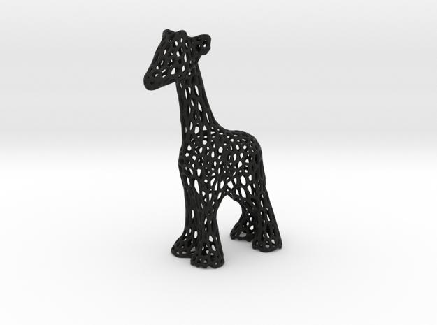 Voronoi Giraffe in Black Strong & Flexible