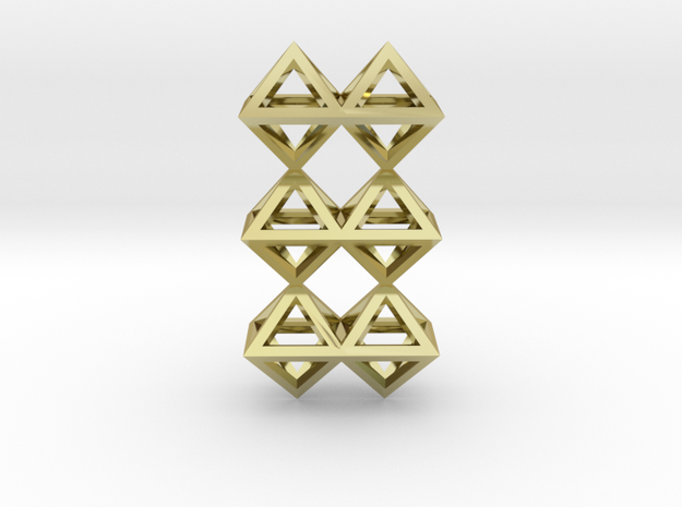 12 Pendant. Perfect Pyramid Structure. in 18k Gold Plated Brass