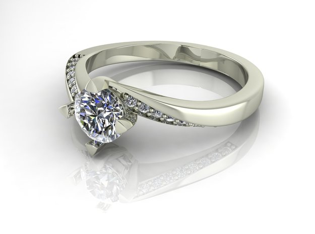 Classic Solitaire 7 NO STONES SUPPLIED in Fine Detail Polished Silver