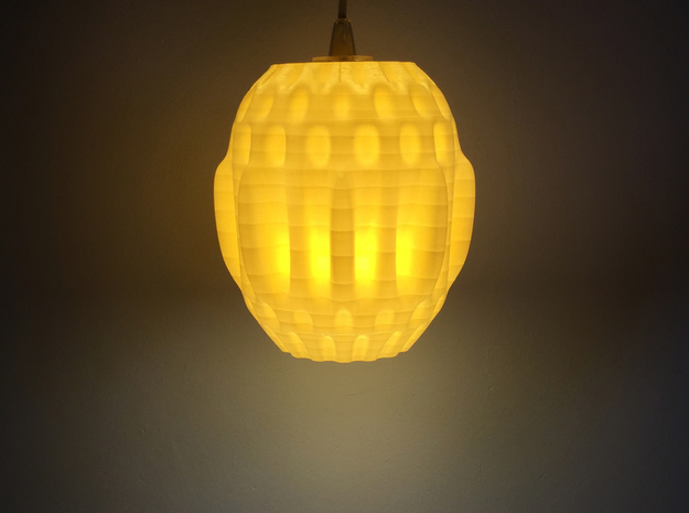 Organic Lamp Shade 1 in White Strong & Flexible