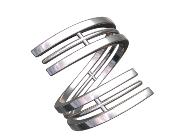 Bar And Center Wire Ring Size 10 3d printed CGI Render Of The Ring