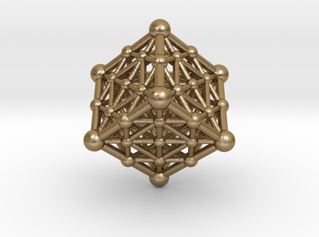 UNIVERSO Cube 40mm in Polished Gold Steel