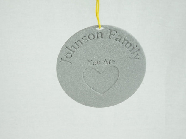 You Are Loved Johnson Family Ornament in Metallic Plastic