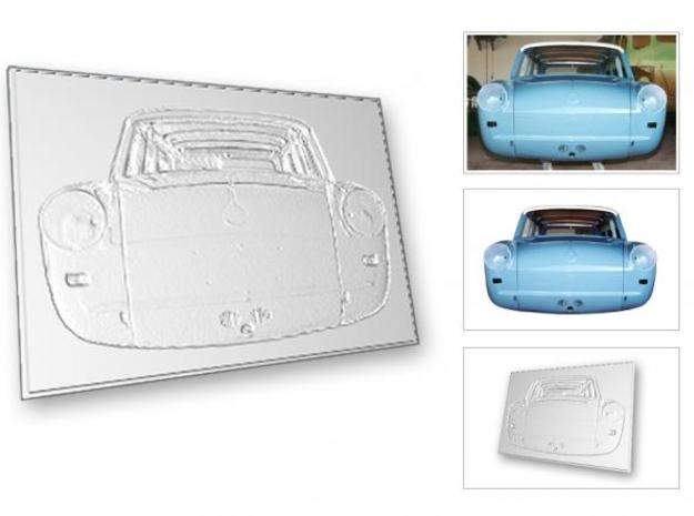 VW Type 3 1500s 1964 PP's 3d printed Description