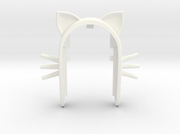 CAT 2 key fob  in White Processed Versatile Plastic